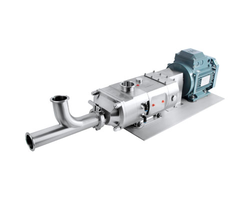 Twin-screw pump inlet tee